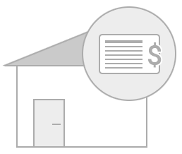 Immobilie sympbolisch dargestellt